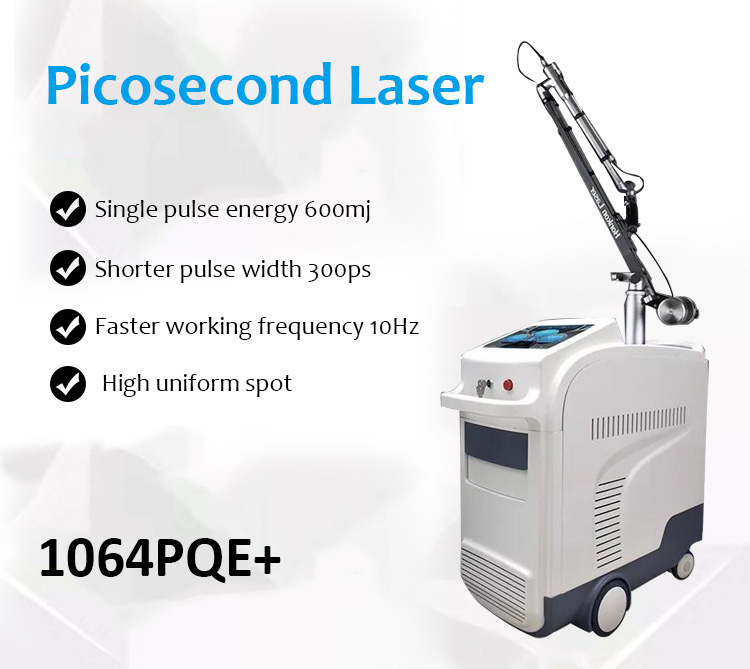 Laser Tattoo Removal Machine, Picosecond Laser, Pigment Lesions Removal Machine, 1064PQE+