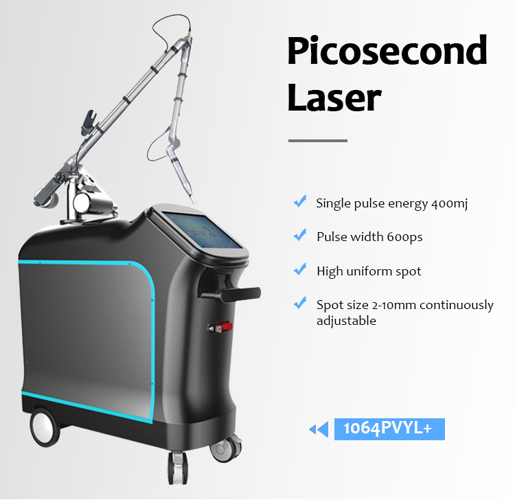 1064pvyl+ High Quality 1064nm & 532nm Picolaser/Picosecond Laser Tattoo Removal Pigmentation Luxurious Equipment