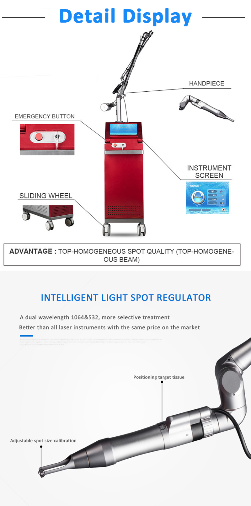 1064nm Q-Switched ND:YAG Laser, Laser Tattoo Removal Machine, Pigment Lesions Removal Machine, 1064QGH02