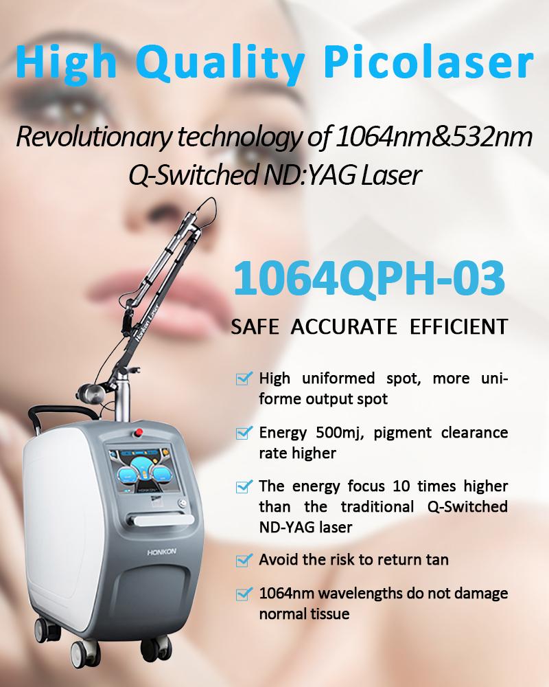 1064QPH03 Picolaser/Picosecond Laser Tattoo Removal Pigmentation Removal Equipment