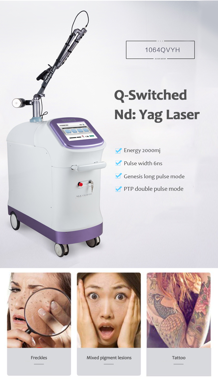 1064QVYH Q-Switched Nd:YAG Laser Tattoo & Pigment Lesions Removal Machine