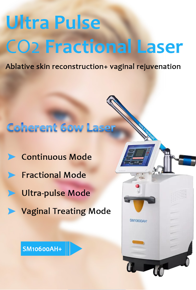 10600nm CO2 Fractional Laser, Facial & Skin Resurfacing Machine, Vaginal Tightening Machine, SM10600AH+