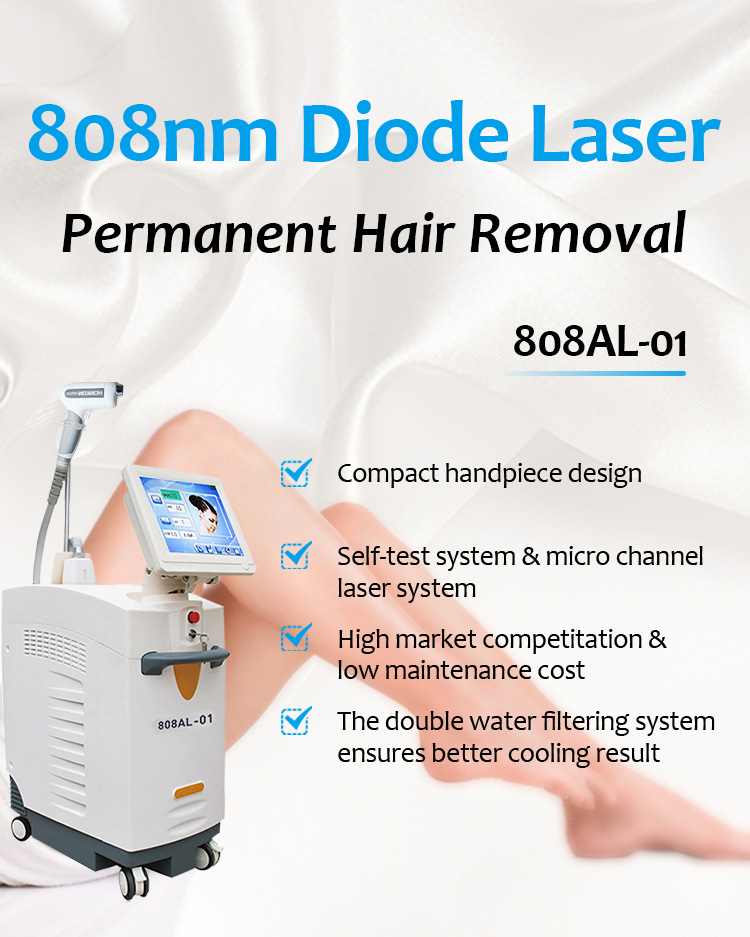 808AL-01 808nm Diode Laser Permanent Hair Removal Machine