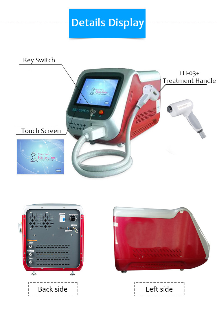 808CUTE03 808nm Diode Laser Permanent Hair Removal Machine