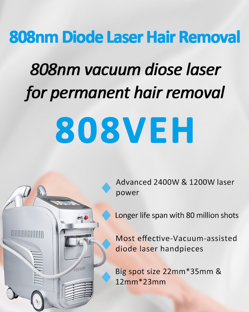808VEH 808nm Diode Laser Permanent Hair Removal Skin Rejuvenation Machine