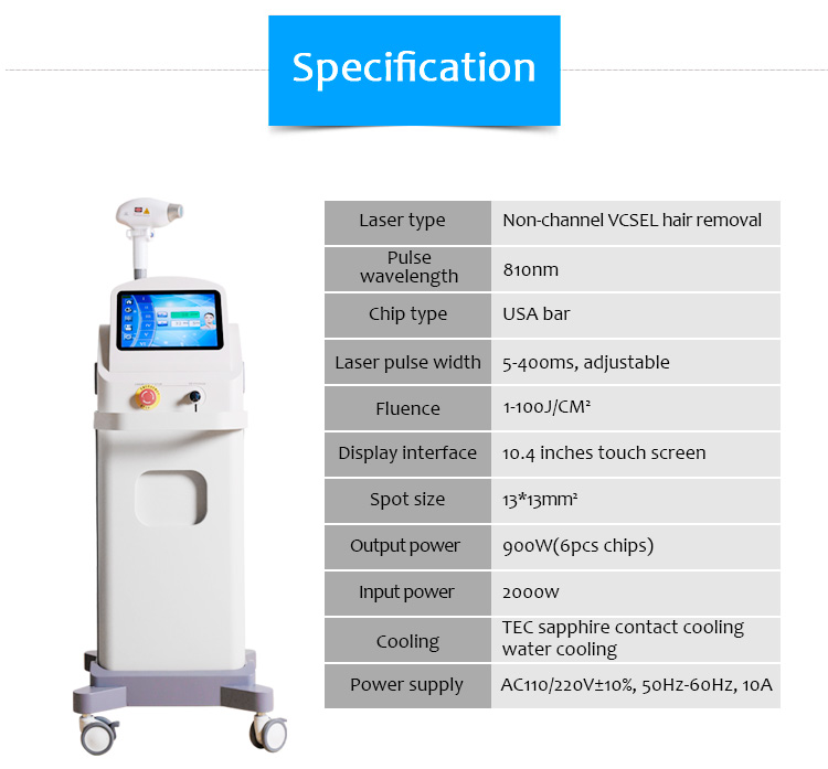 810D02 Non Channel Vertical Cavity Surface Emitting Laser (VCSEL) Hair Removal Machine