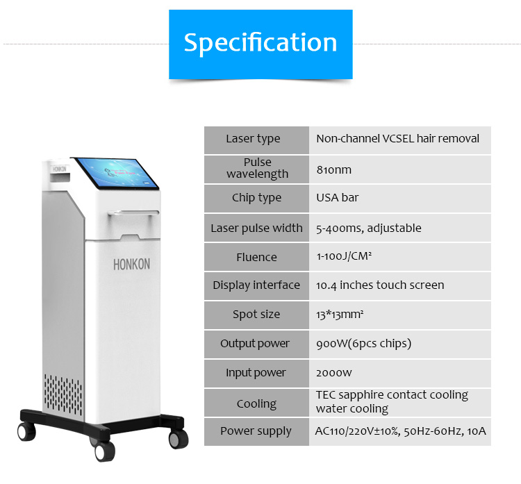 810D04 Non Channel Vertical Cavity Surface Emitting Laser (VCSEL) Hair Removal Machine