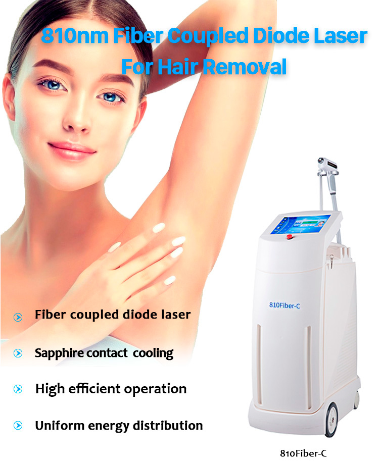 810Fiber-C 810 Fiber Coupled Diode Laser For Hair Removal Machine