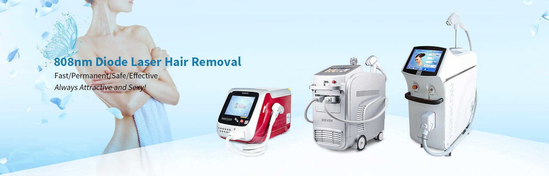 808nm diode laser hair removel machine