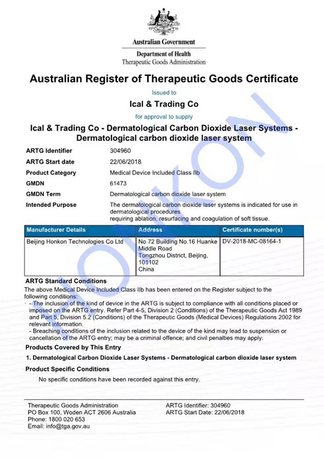 15th ACAM laser and Cosmetic Medical Conference Certificates