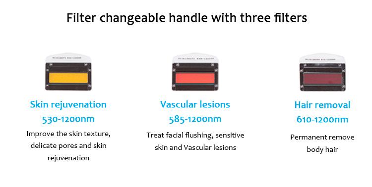QQ+E Cute02 Portable IPL/E-Light Hair Removal Skin Rejuvenation Pigmentation Vascular Lesion
