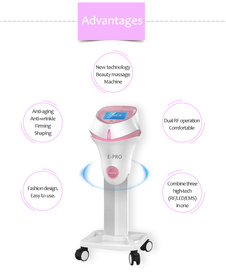 E-Pro Advanced Healthy EMS RF LED Face Lifting Body Slimming Machine