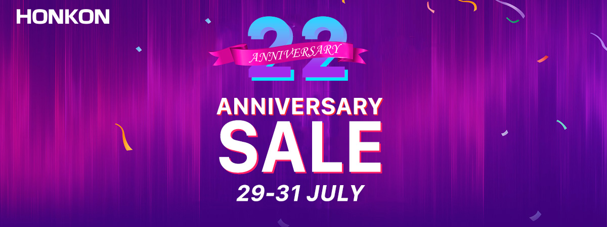 Big News! HONKON 22 Years Anniversary Sale