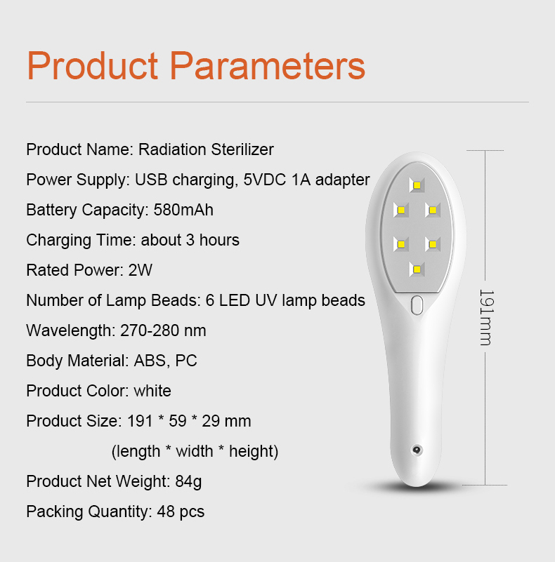 LED UV radiation sterilizer