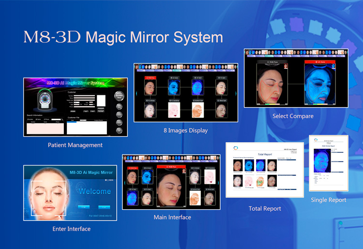 M8-3D Magic Mirror System Facial Skin Analyzer