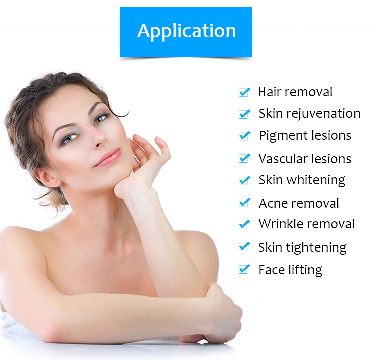 M90e Ipl/E-Light Hair Removal Skin Rejuvenation Bipolar Rf Skin Tightening And Lifting