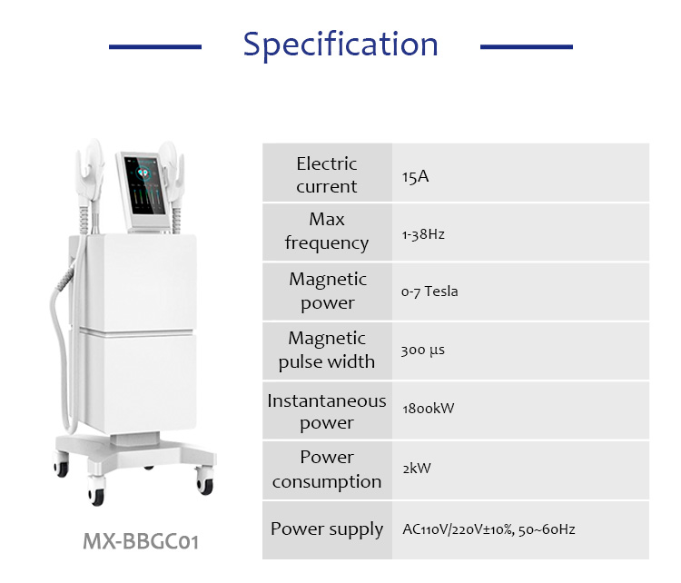 MX-BBGC01 Non Invasive Body Shaping Using Electromagnetic Field Technology Beauty machine