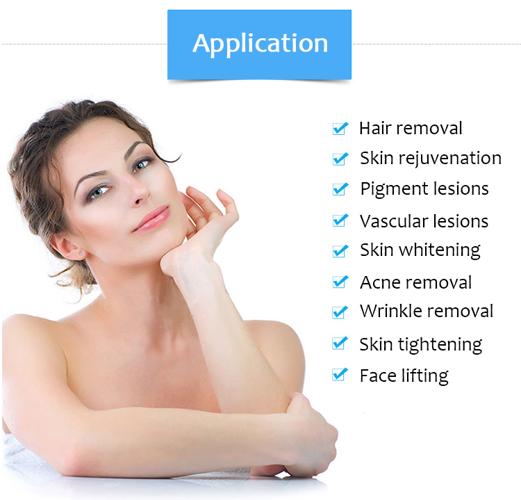 IPL Acne Hair Removal Wrinkle Reduction Skin Whitening & Tightening Rejuvenation,Vascular Lesions Removal Beauty Machine