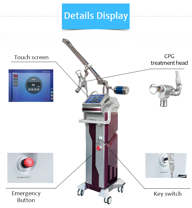 10600nm CO2 Fractional Laser, Laser Tattoo Removal Machine, Scars & Acne Scars Removal Machine, Vaginal Tightening Machine, SM10600D-02