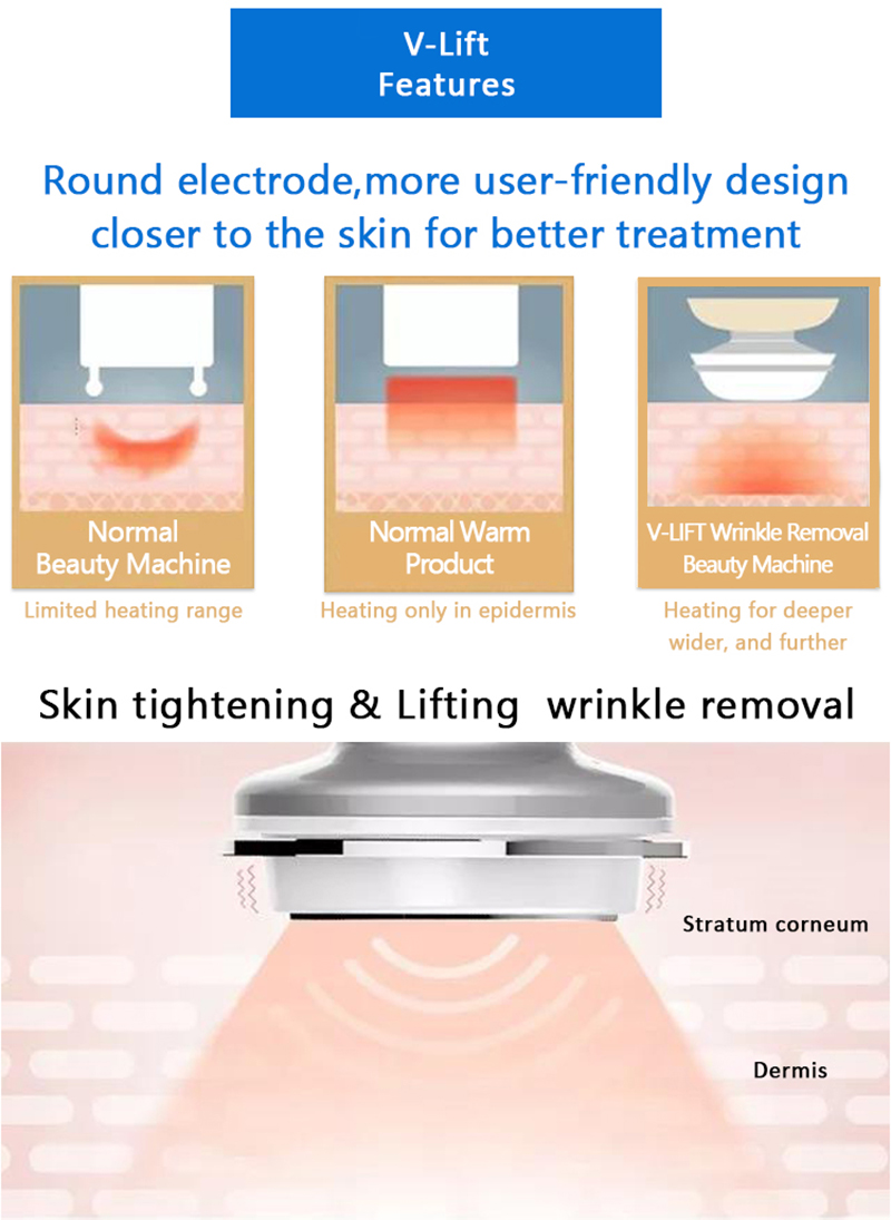 V-LIFT Skin Lifting Skin Tightening Wrinkles Removal Machine