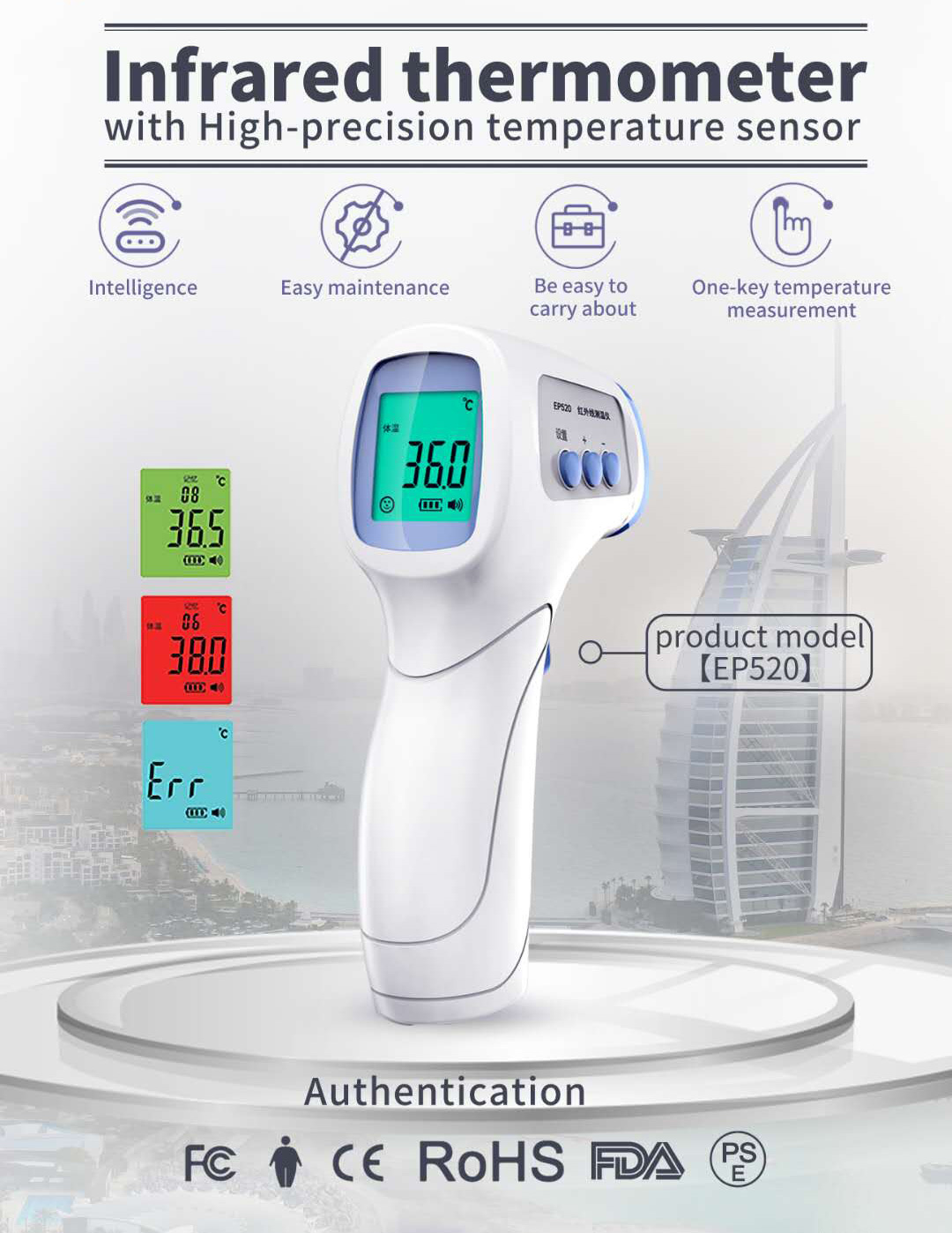 Forehead Infrared Thermometer EP520