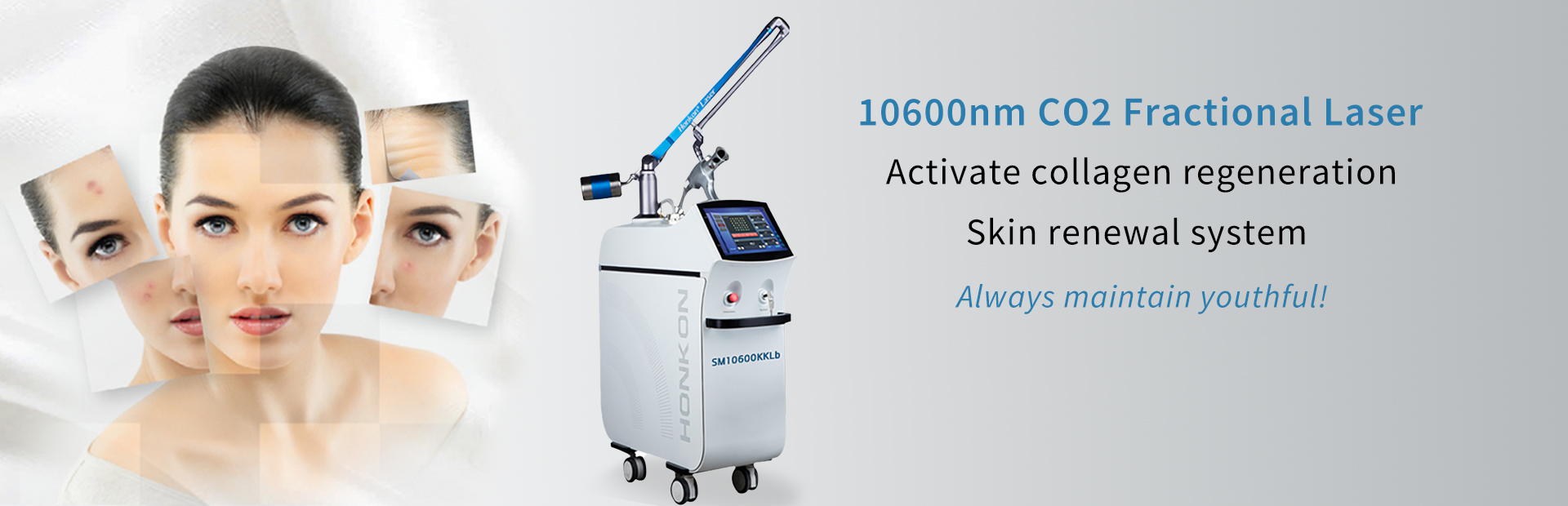 SM10600KKlb Vaginal tightening 10600nm CO2 Fractional laser stretch mark/scar removal  anti-wrinkle skin resurfacing machine