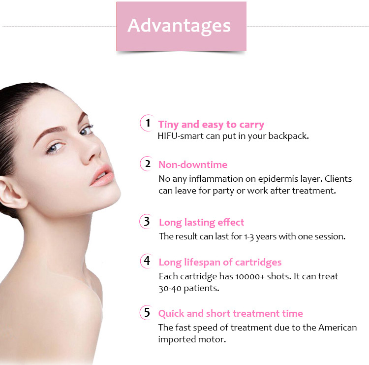 HIFU-Smart Smart HIFU Anti-Wrinkle Face Lifting Skin Tightening Beauty Salon Equipment