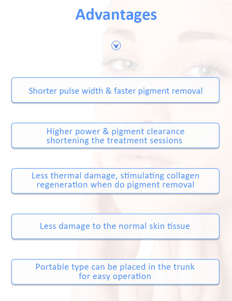 JL-PVA Picolaser/Picosecond Laser Pigment Lesions & Tattoo Removal/Age Spot Chloasma Freckles Removal/Skin Rejuvenation Machine
