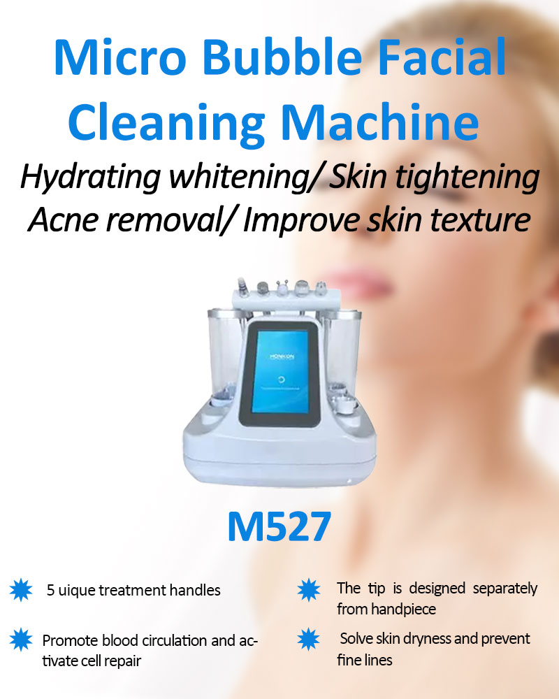 5 in 1 Multifunction Skin Peeling Micro Bubble Machine for Skin Whitening and Deep Cleaning Hydra Facial Skin Care