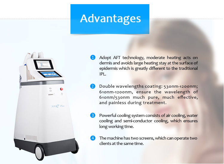 M90eplus IPL/E-Light Hair Removal Skin Rejuvenation RF Skin Tightening Tattoo Removal Machine
