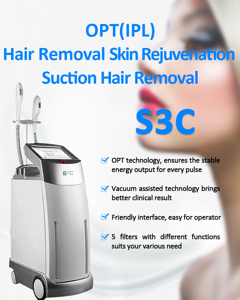 S3C IPL/OPT/SHR Suction Hair Removal Skin Rejuvenation Pigmentation & Vascular Lesion Machine